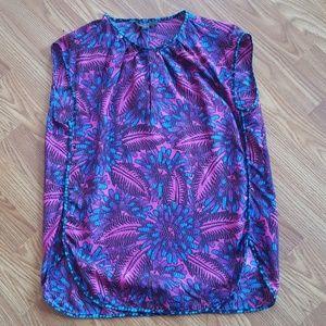 J Crew Printed Silk Blouse